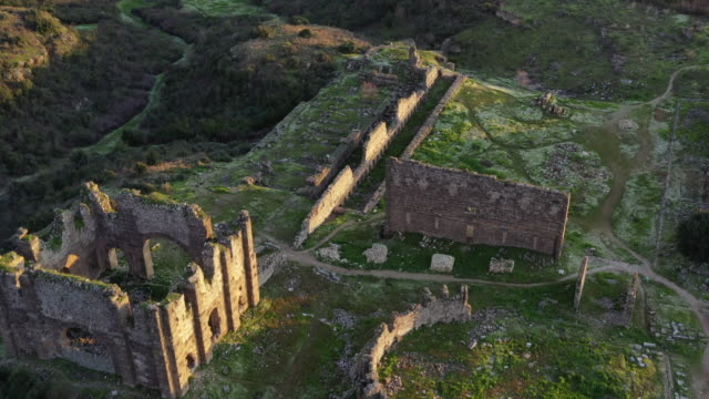 ruins of aspendos - in rovina video stock e b–roll