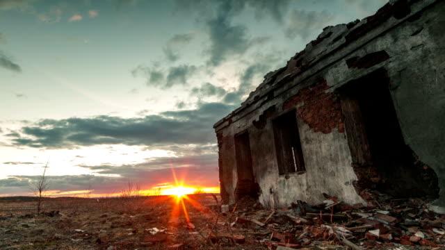Ruins of buildings video