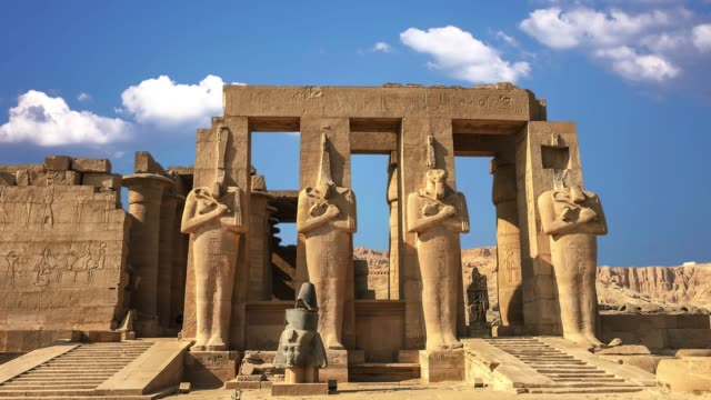 Ruins of the beautiful ancient temple of Karnak in Luxor Ruins of the beautiful ancient temple of Karnak in Luxor architectural column stock videos & royalty-free footage