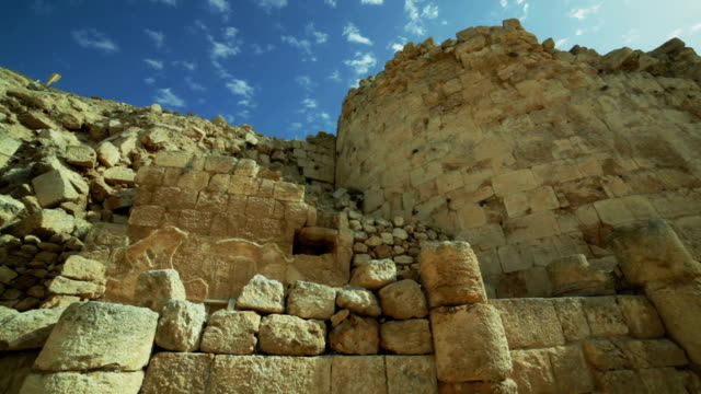 Ruins of the old city under blue sky Ruins of the old city under blue sky old ruin stock videos & royalty-free footage
