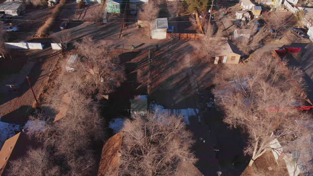 Run-Down Residential District Drone Point of View in Grand Junction Colorado