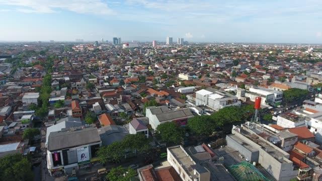 Rungkut aerial in Surabaya, Indonesia Densely populated areas in Rungkut Region, Surabaya, East Java, Indonesia. indonesia stock videos & royalty-free footage