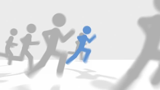 vídeos y material grabado en eventos de stock de runner latidos competidores - meta
