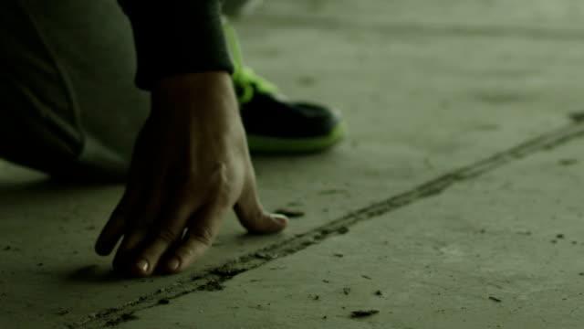 Runner in Starting Stance video