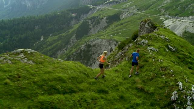HD: Running Along Mountain Ridge video