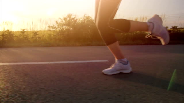 Running at Sunset Jogger Jogging video
