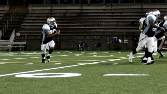 Running back Jumps over defender video