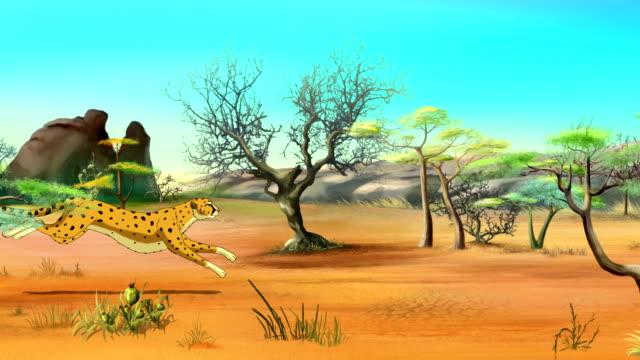 Running Cheetah UHD video