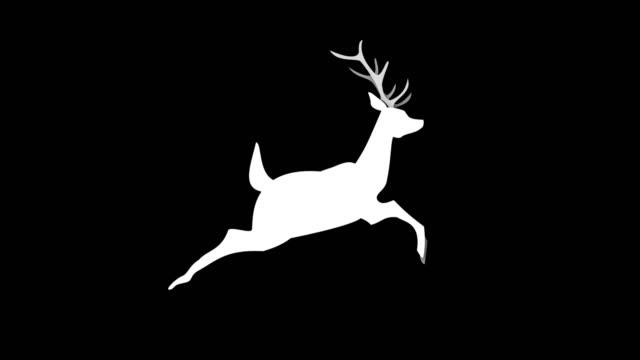 vídeos y material grabado en eventos de stock de 4k corriente animación de ciervos, croma key, loop - reno mamífero