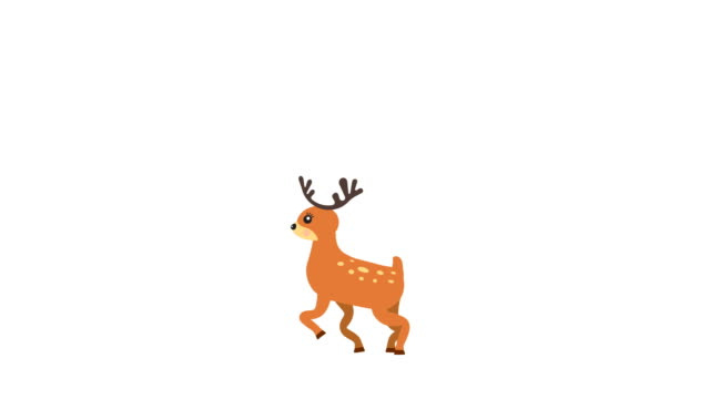 Running deer walking animation with optional luma matte. Alpha Luma Matte included. 4k video video