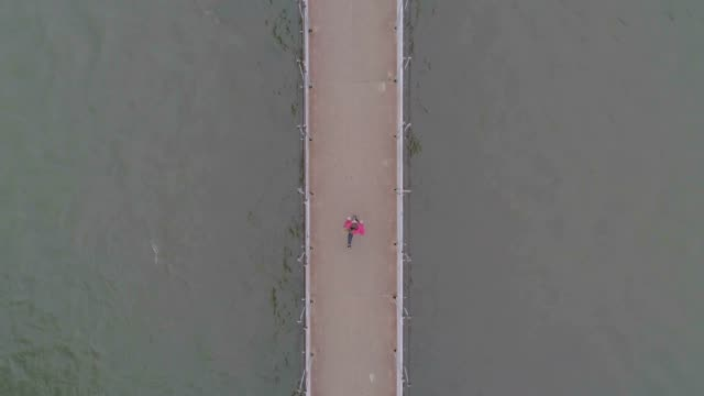 Running from the drone perspective video