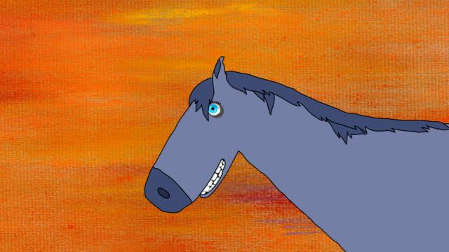running horse on speed back - hd, loop - animal doodle bildbanksvideor och videomaterial från bakom kulisserna