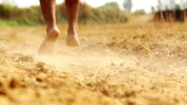 running in desert - scalzo video stock e b–roll