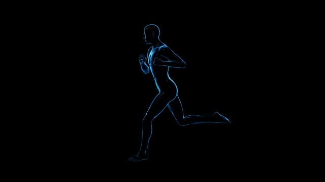 running man   loopable - lem kroppsdel bildbanksvideor och videomaterial från bakom kulisserna