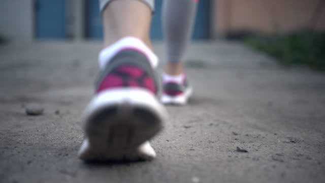 Running shoes video