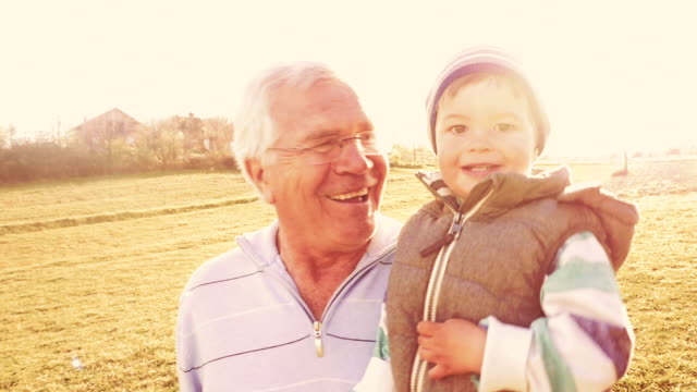 Running through the field with my grandpa video