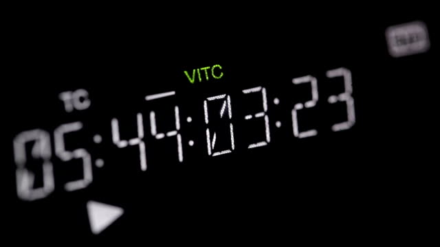 Running timecode on the pro HD VCR video