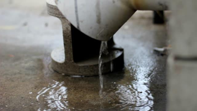 Running water, pipe, plumbing, construction video