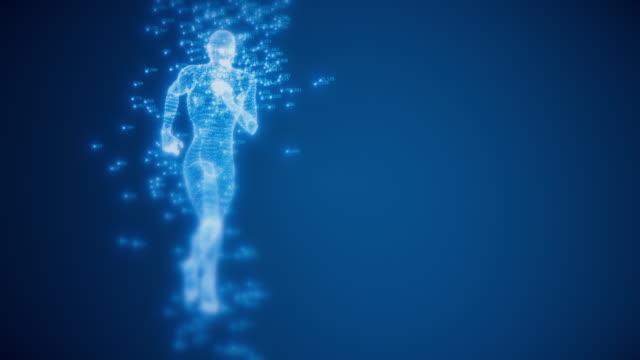 löp tråd inramad modell med slumptal - abstract silhouette art bildbanksvideor och videomaterial från bakom kulisserna