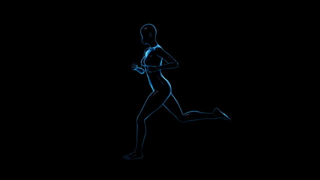 Running Woman | Side View | Loopable