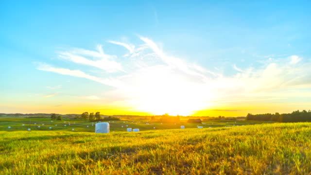 Rural landscape and sunset video