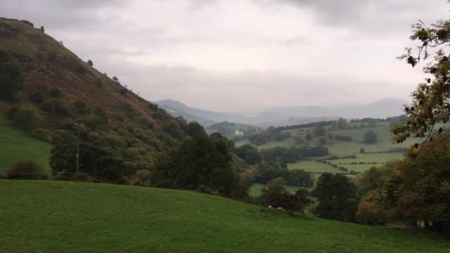 Rural North Wales Overlooking Castell Dinas Bran near Llangollen video