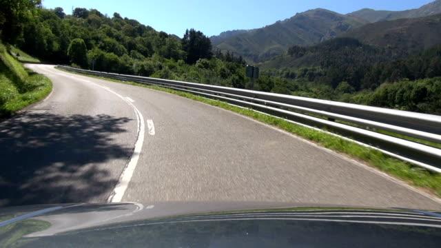 rural road from hood car video