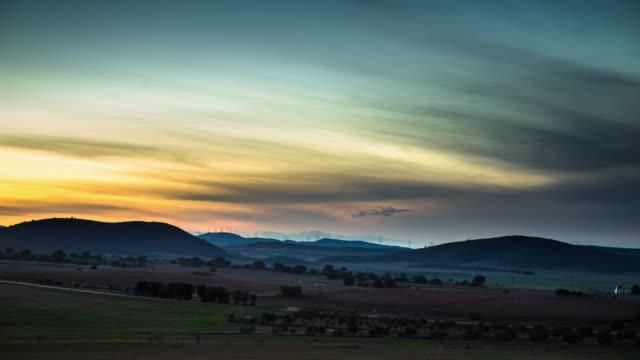 Rural Spanish Sunset - Time Lapse video