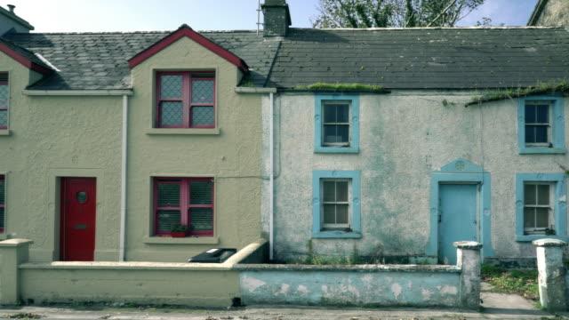Rural terraced houses of Ireland video