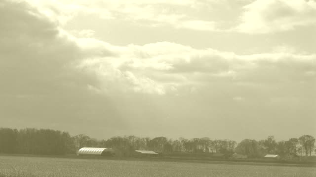 Rural Time Lapse of Past(Sepia) to Present(Color)