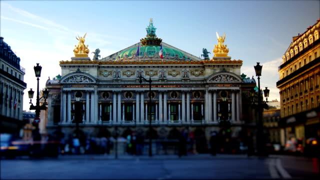 ラッシュアワーには、パリオペラ座の眺め - オペラ点の映像素材/bロール
