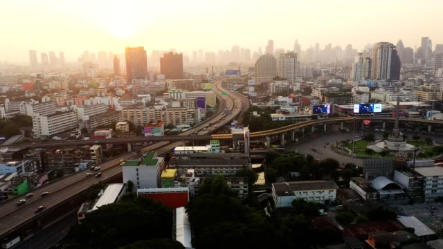 Rush hour on the highway in Bangkok