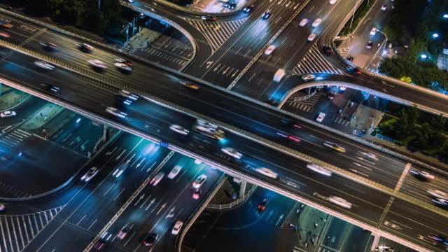 vidéos et rushes de t/l ms ha zo rush hour traffic of beijing / chine - route surélevée