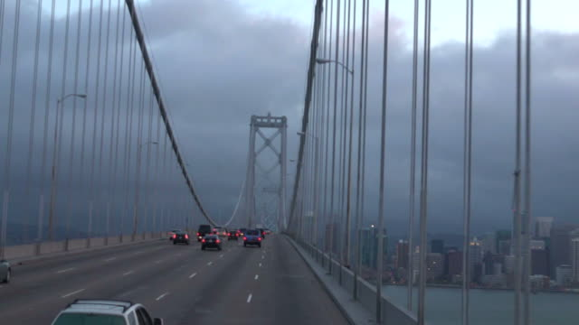 Rush hour Traffic on Oakland Bay Bridge San Francisco, California video