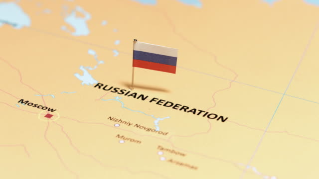 Russia Federation with National Flag tracking to Russia Federation with National Flag russian ethnicity stock videos & royalty-free footage