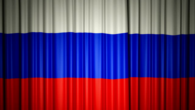 Russia flag. 3d animation of opening and closing curtains with flag. 4k Russia flag. 3d animation of opening and closing curtains with flag. 4k animation with chroma key russian culture stock videos & royalty-free footage