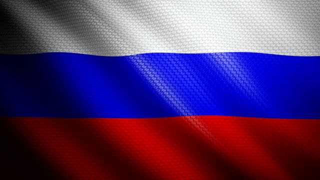 Russia Flag 4K video
