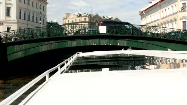 Russia St. Petersburg River Fontanka first-person architecture video