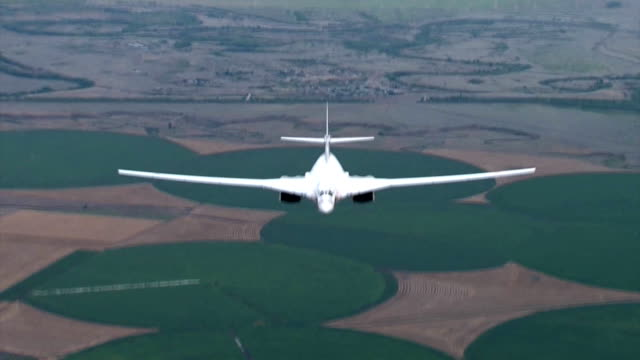 Russian bomber over the fields video