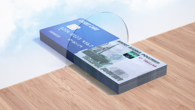 Russian Credit Card Paying - 4K Resolution