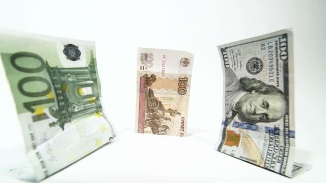 Russische Währung Rubel fallen vor dollar-euro – Video