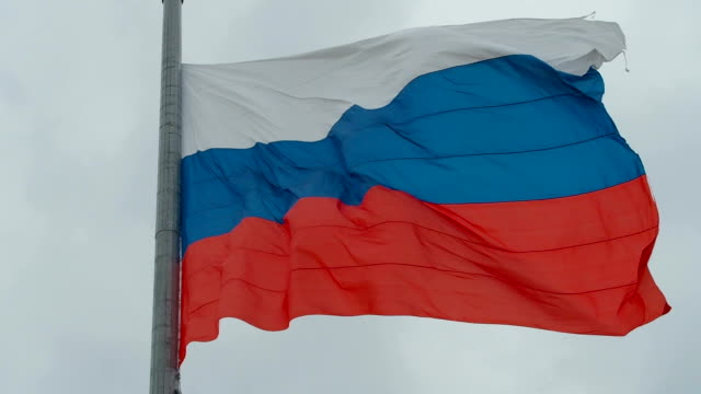 Russian Flag in Front of Sky video