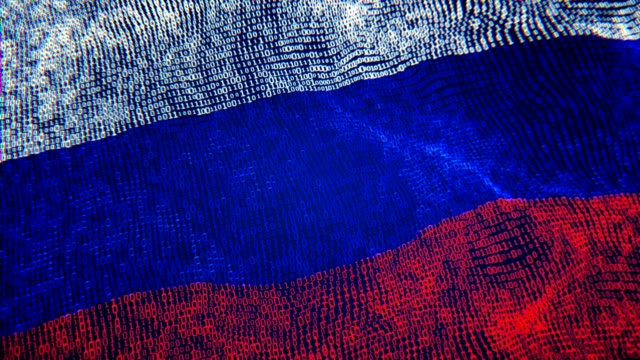 russian flag particle digital flag loopable 4k - rosja filmów i materiałów b-roll