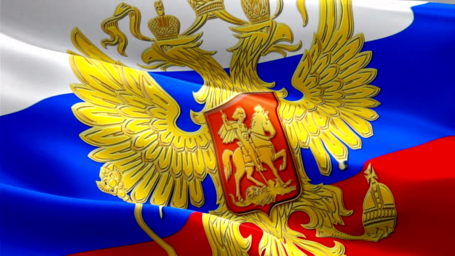 Russian flag with eagle emblem video waving in wind. Realistic Russian Flag background. Russia Flag Looping Closeup 1080p Full HD 1920X1080 footage. Russia Kremlin country flags footage video for film,news Russian flag with eagle emblem video waving in wind. Realistic Russian Flag background. Russia Flag Looping Closeup 1080p Full HD 1920X1080 footage. Russia Kremlin country flags footage video for film,news russian culture stock videos & royalty-free footage