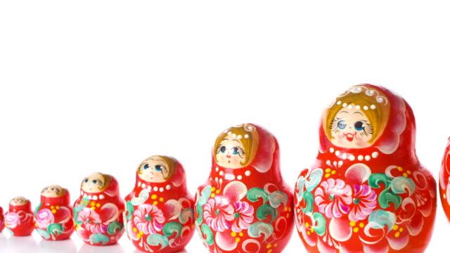 Russian Matryoshka doll video