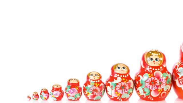 Russian Matryoshka dolls video