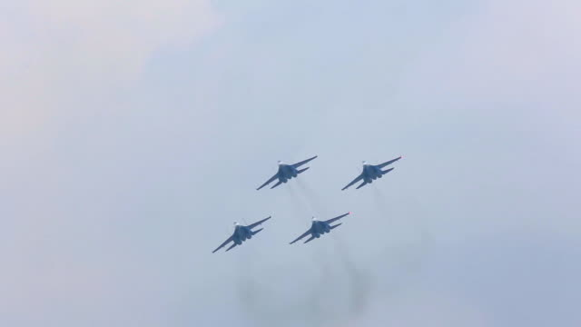 Russian military aircraft military exercises video