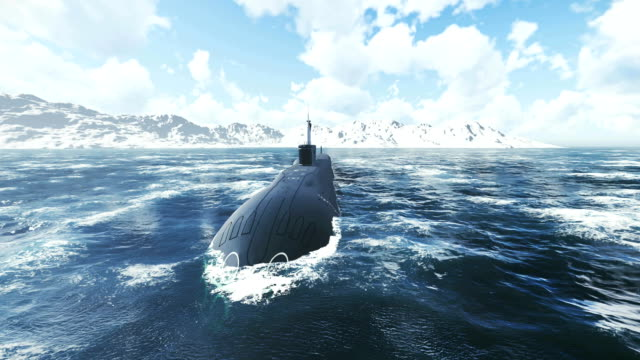 Russian nuclear-powered submarine at the northern waters video