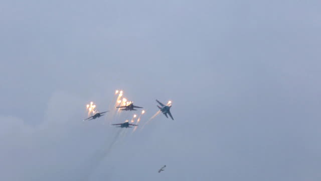 Russian warplanes video