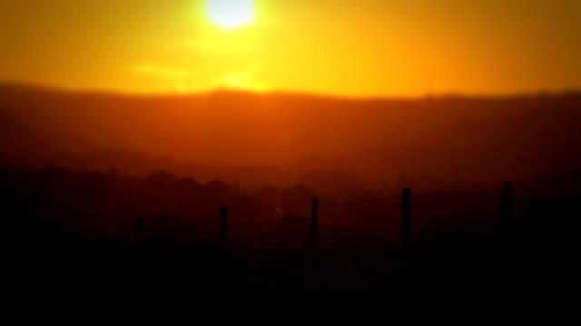 Rustic Rural Sunset video